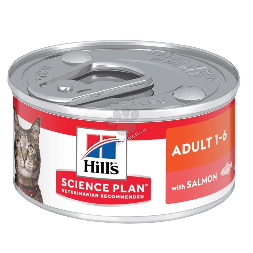 Hills Science Plan Feline Adult консерва със сьомга - пълноценна храна за котки над 1 година 82 гр.