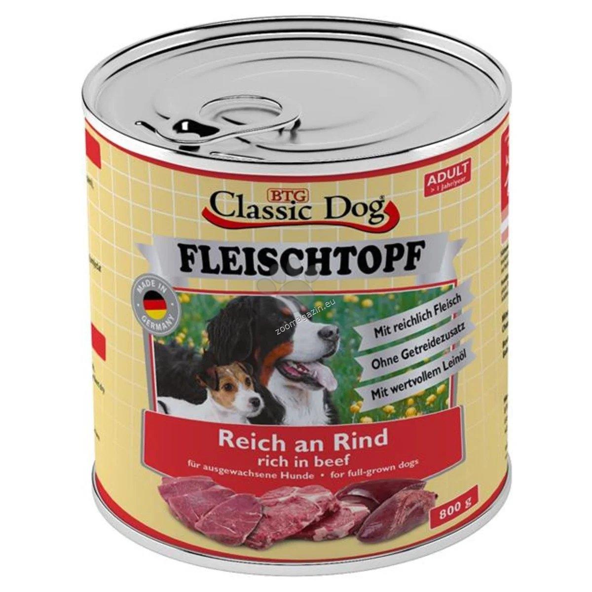 Classic Dog FLEISCHTOPF Adult - с говеждо месо 800 гр.