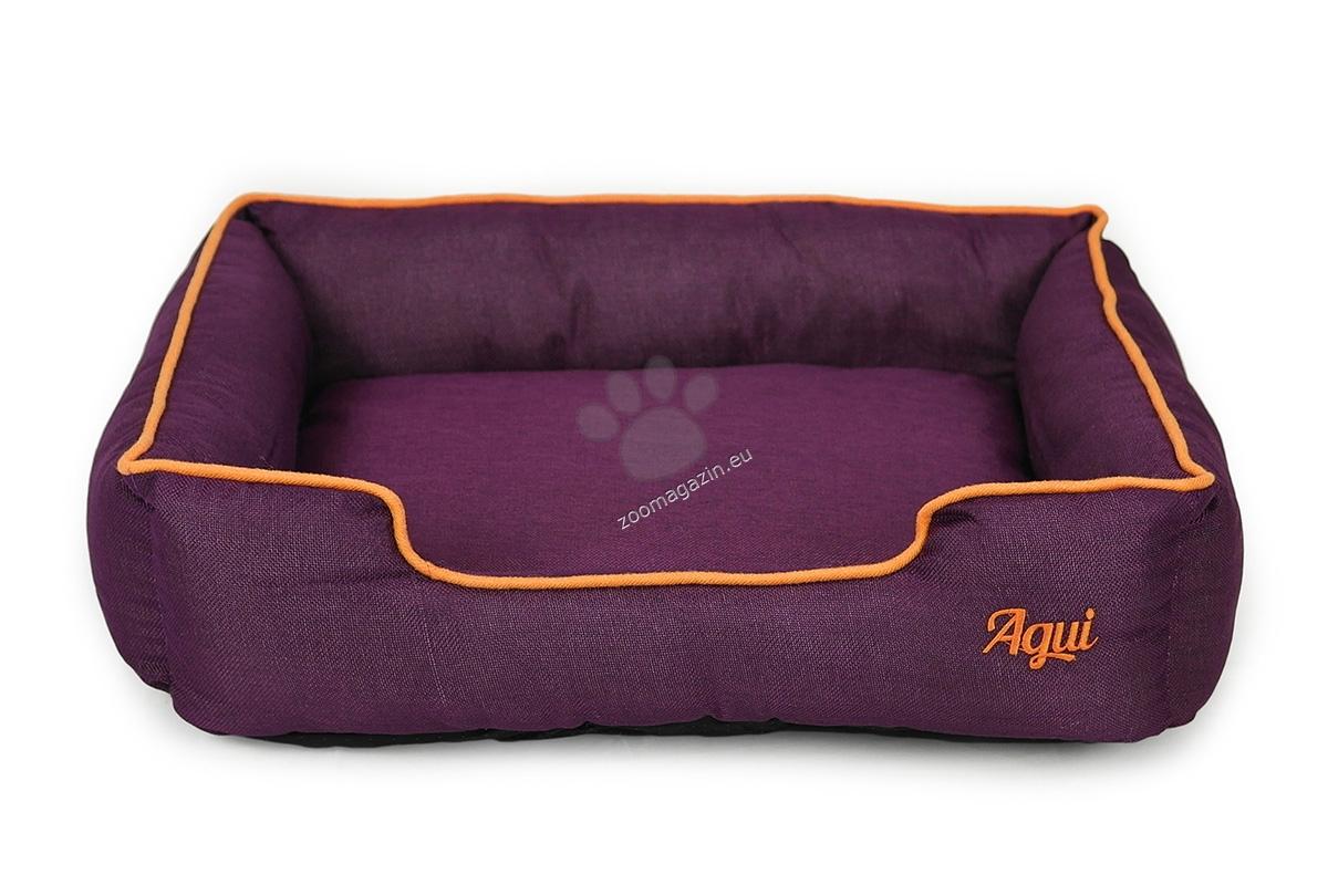 Agui Nature Bed - луксозно меко легло 70 / 60 / 17 см. / сиво, кафяво, синьо, лилаво /