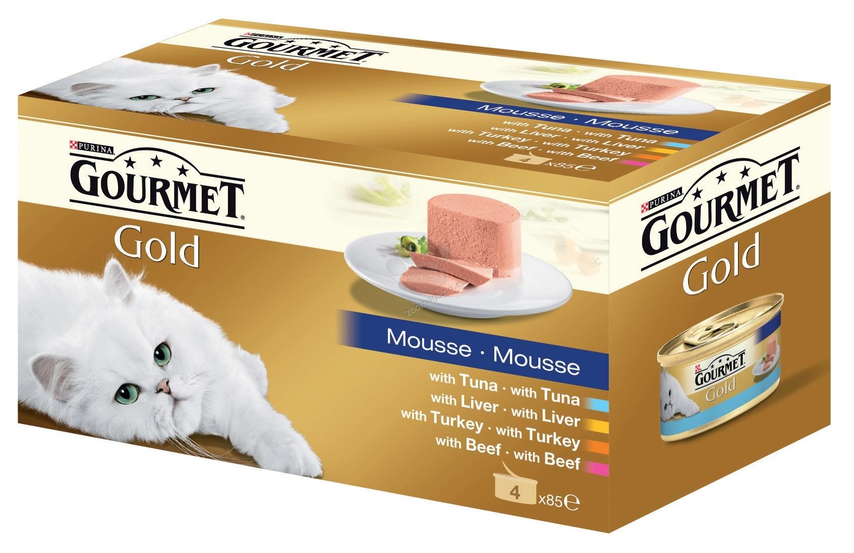 Gourmet Gold Mousse - мултиопаковка пастети - 4 бр x 85 гр