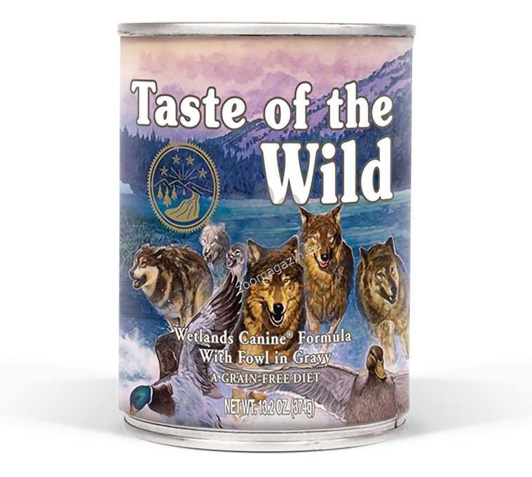 Taste of The Wild Wetlands Canine Formula - с прясно патешко месо в сос грейви 395 гр.