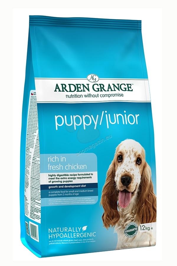Arden Grange - Puppy Junior - за подрастващи кучета малки и средни породи на възраст от 2 до 9 месеца 6 кг.