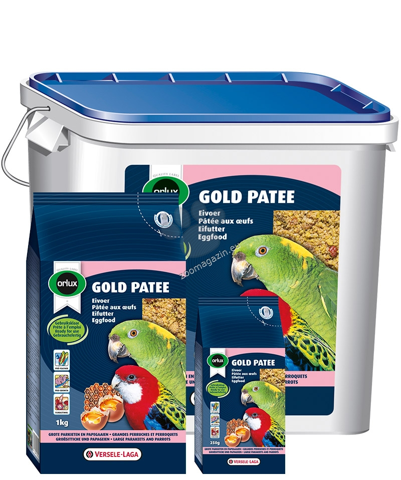 Versele Laga - Gold Patee Parakeet and Parrots - мека яйчна храна за средни и големи папагали 5 кг.