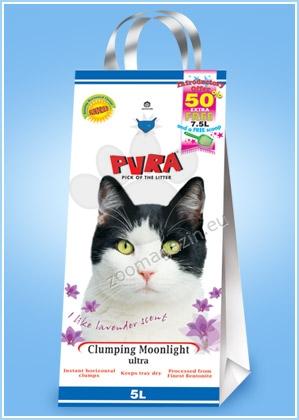 Pura Clumping Moonlight - бентонитова ароматизирана постелка / бебешка пудра / 7кг.