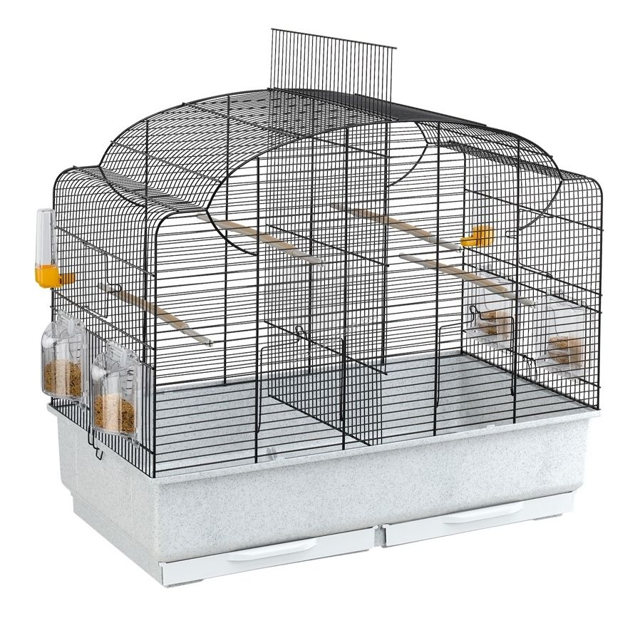 Ferplast - Canto Black - клетка за птици 71 / 38 / 60.5 см.
