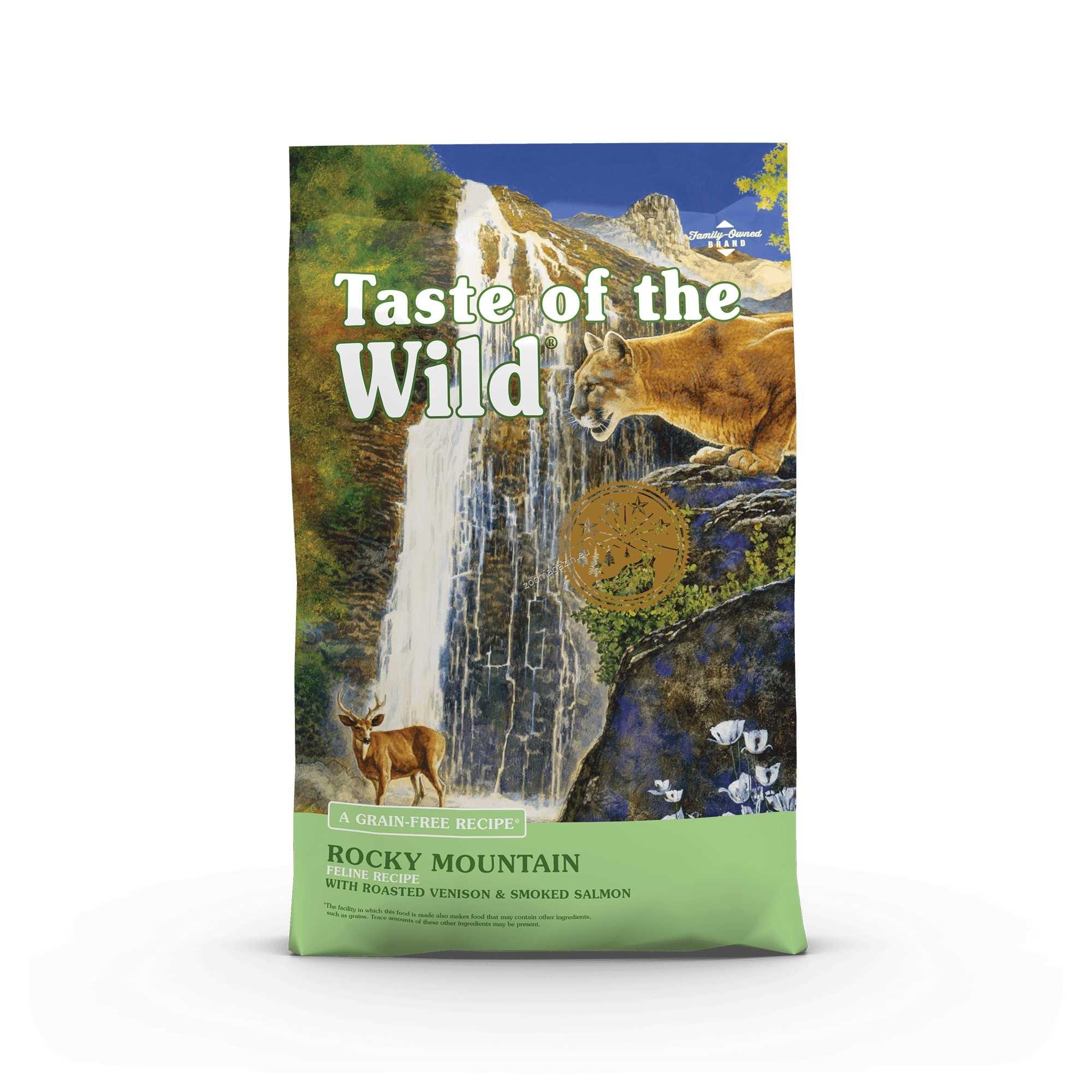Taste of the Wild Rocky Mountain Feline Formula with Roasted Venison & Smoked Salmon - котешка храна с печено еленско месо и пушена сьомга 7 кг.