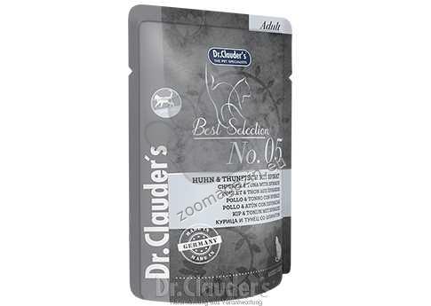 Dr.Clauder Best Selection N5 - премиум храна с месо от риба тон, пилешко месо и спанак 85 гр.