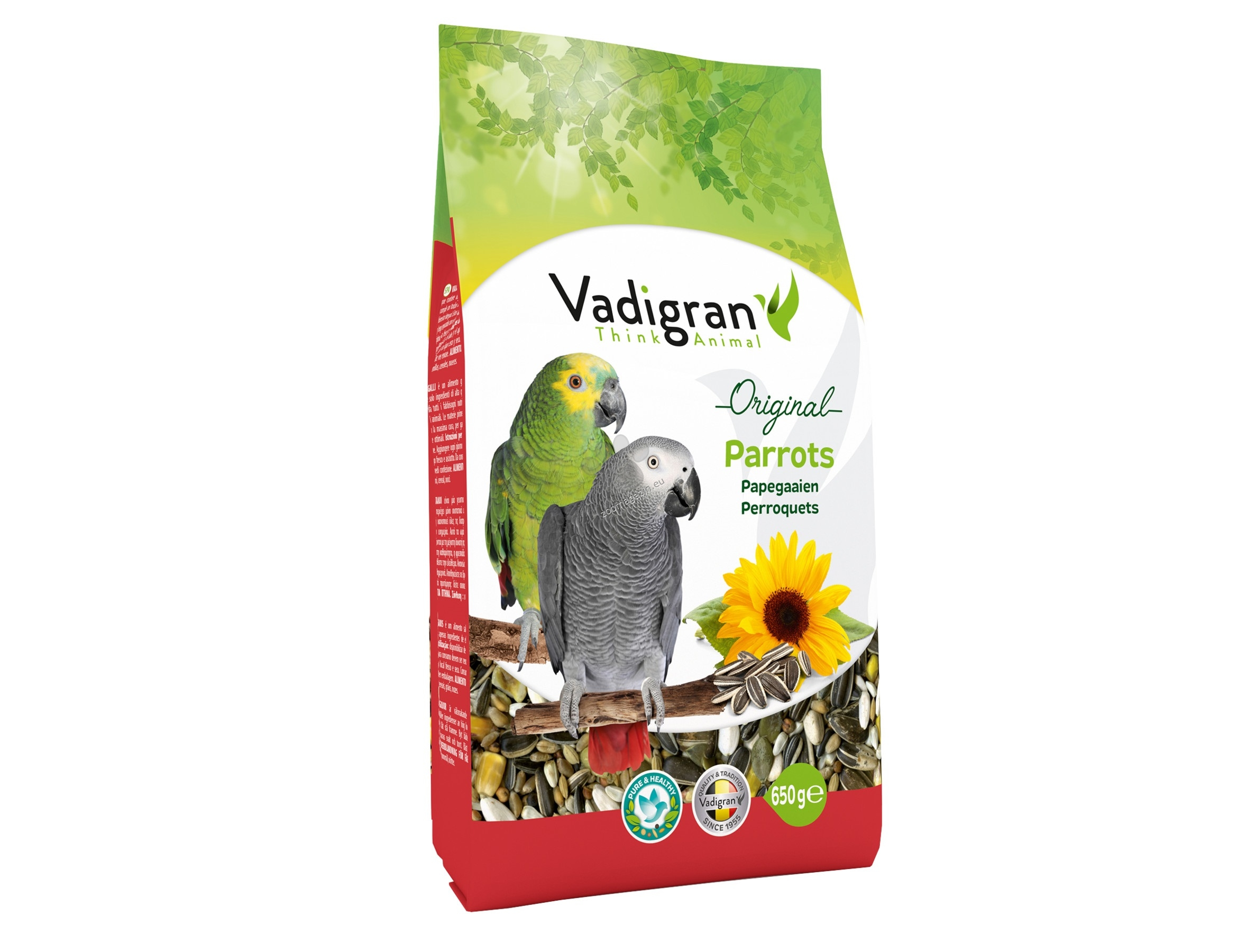 Vadigran - Original Parrot - пълноценна храна за големи папагали 650 гр.