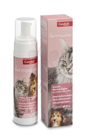 Candioli Dermousse - дерматологична пяна за сухо почистване на кожата и космената покривка  200 мл.