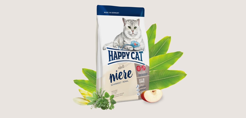 Happy Cat Renal - с говеждо и пилешко месо, поддържа функцията на бъбреците, за котки над 12 месеца 300 гр.