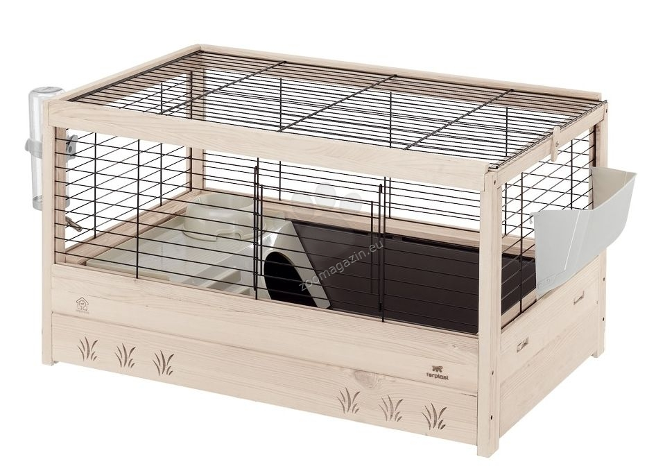 Ferplast arena 80 guinea pig cage made from wood 82 52 for Wooden guinea pig cage