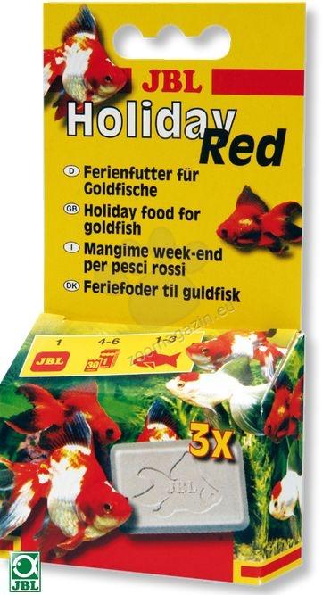 JBL Holiday Red - блокчета разтварящи се 4 - 6 дни, за златни рибки 20 грама