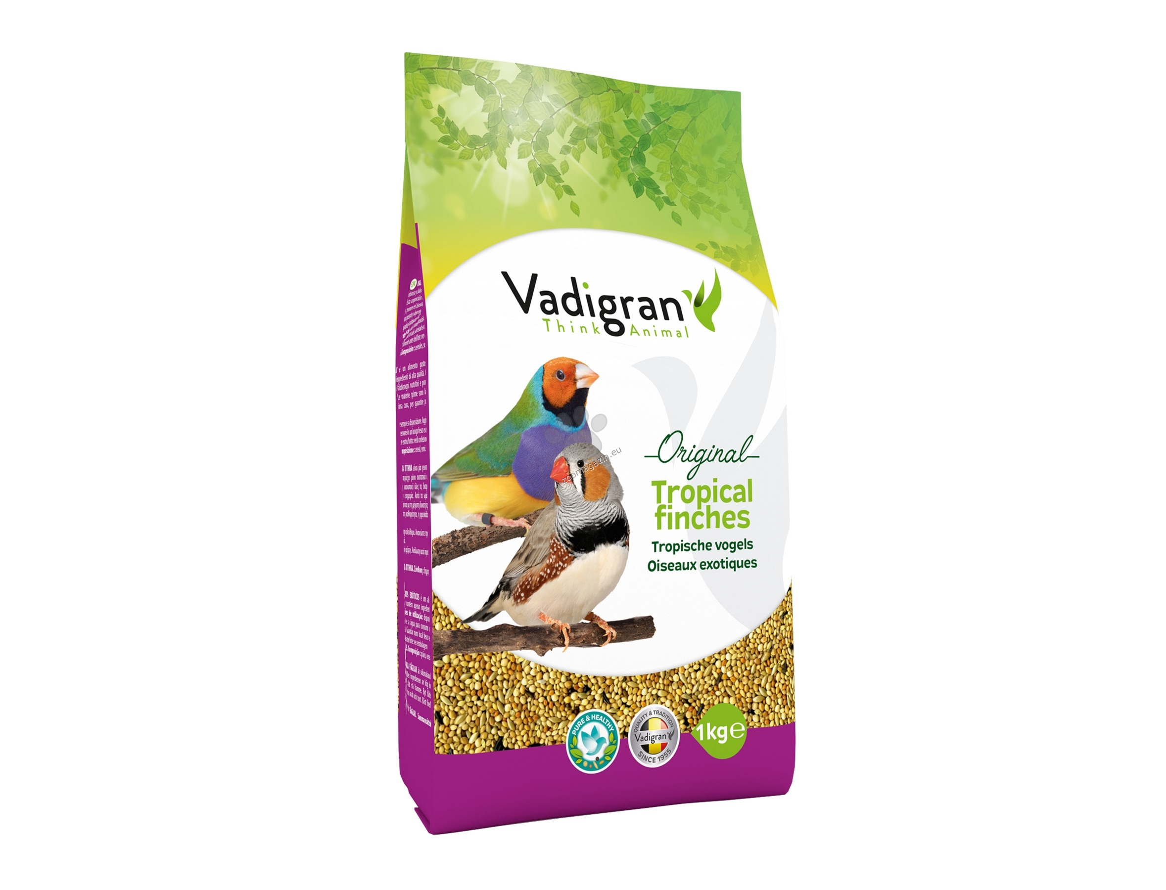 Vadigran - Original Tropical Finches - пълноценна храна за тропически финки 1 кг.