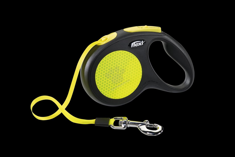 Flexi Neon Classic L Tape Leash - 5 метра лента, за кучета с тегло до 50 кг.
