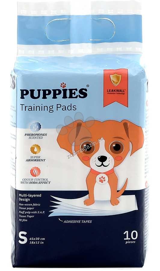 Puppies - хигиенна подложка с феромони 45 / 30 см.,  10 броя