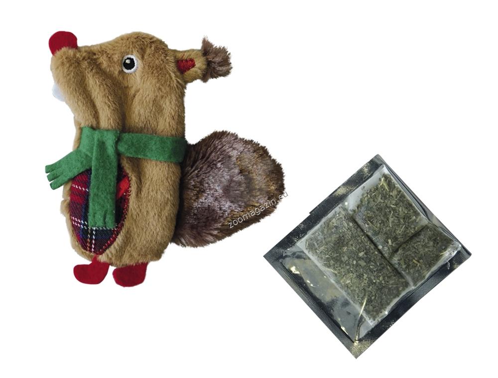 Nobby XMAS plush squirrel - плюшена играчка 12 см.