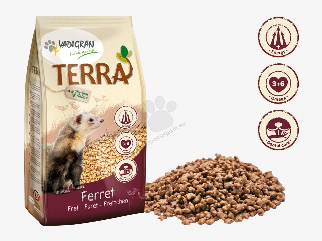Vadigran - Terra Ferret Super Premium - пълноценна храна за декоративни порчета 800 гр.