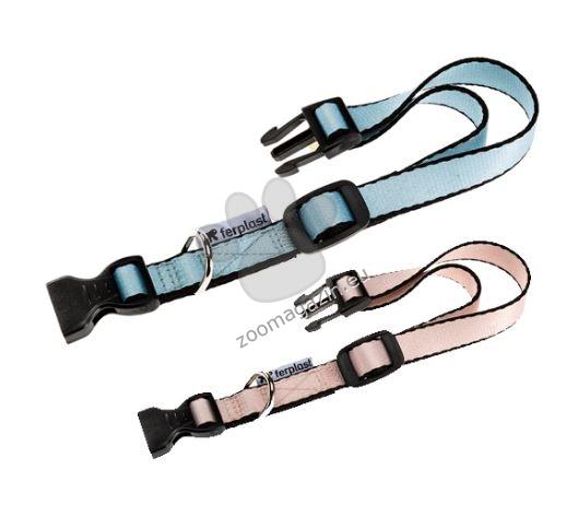 Ferplast - Club Puppy C10/25 - регулируем нашийник с пластмасова катарама,за кучета с обиколка на врата 20-25 см. / розов, син /