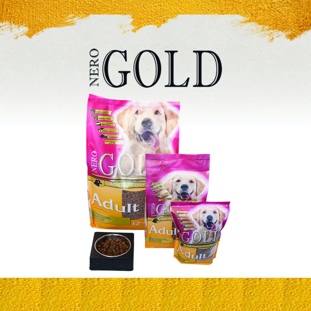 Nero Gold Adult - пълноценна храна за кучета малки и средни породи над 12 месечна възраст 12 кг.