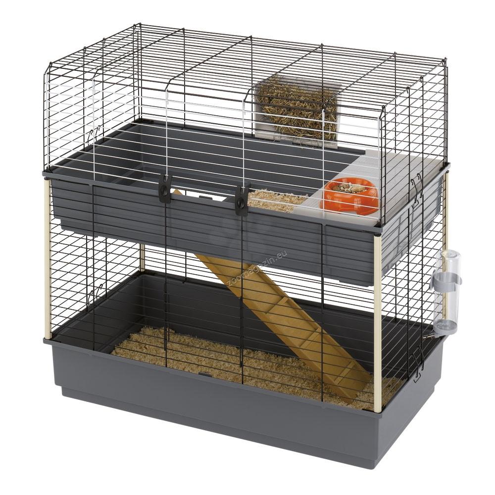 Ferplast - Rabbit 100 Double - клетка за зайци 99 / 51.5 / 92 cm