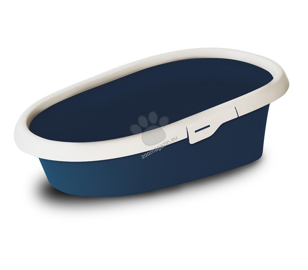 M.P.Bergamo Minou Mini - котешка тоалетна с борд / синя, розова, зелена / 43 / 30 / 14 см.