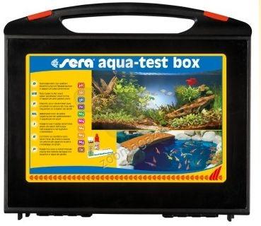 Sera aqua test box - тестове за точното определяне на gH, kH, pH, NH4/NH3, NO2, Fe и PO4.,само за сладководни аквариуми и градински езерца