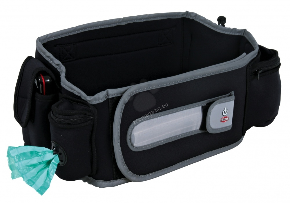 Trixie Safer Life Flash Active-Belt - Κατάρτισης τσάντα-ζώνη 77-122 εκ.