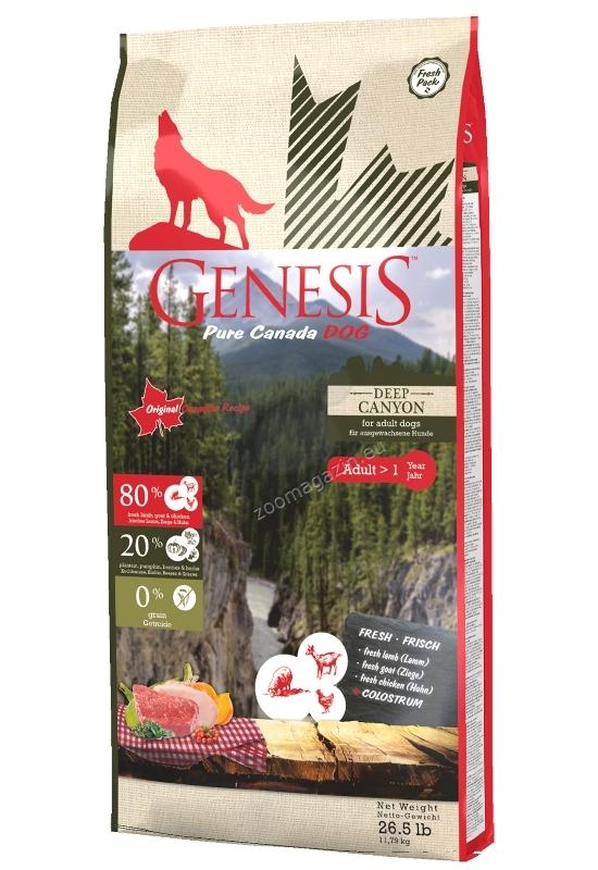 Genesis Pure Canada Deep Canyon Adult - пълноценна храна за израснали кучета, подходяща за всички породи над 12 месеца 11.79 кг.