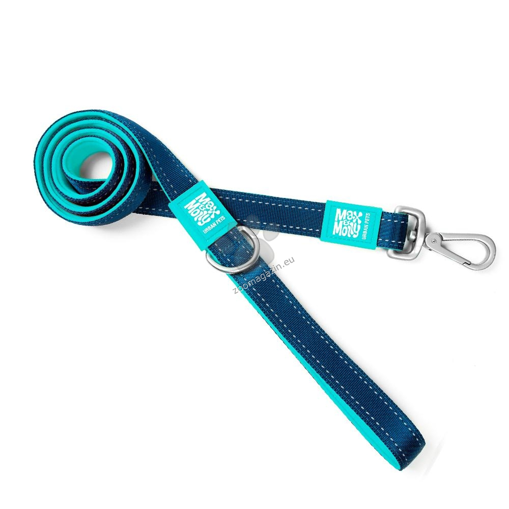 Max Molly Short Leash Matrix Blue S - повод 120 см. / 15 мм.