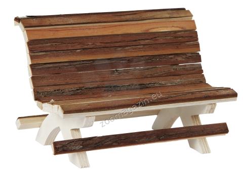 Kerbl Wooden Bench Nature - дървена пейка 18 x 11 x 12 cm