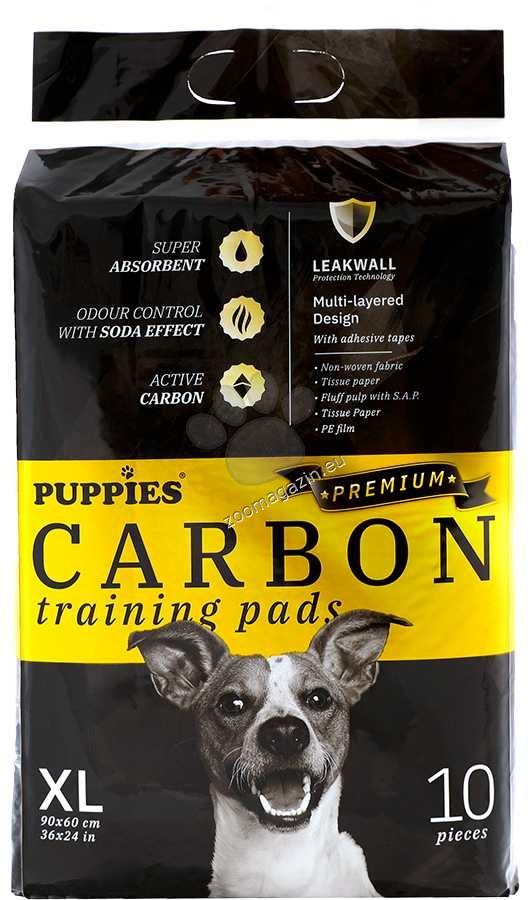 Puppies Carbon - хигиенна подложка с активен въглен 90 / 60 см., 10 броя