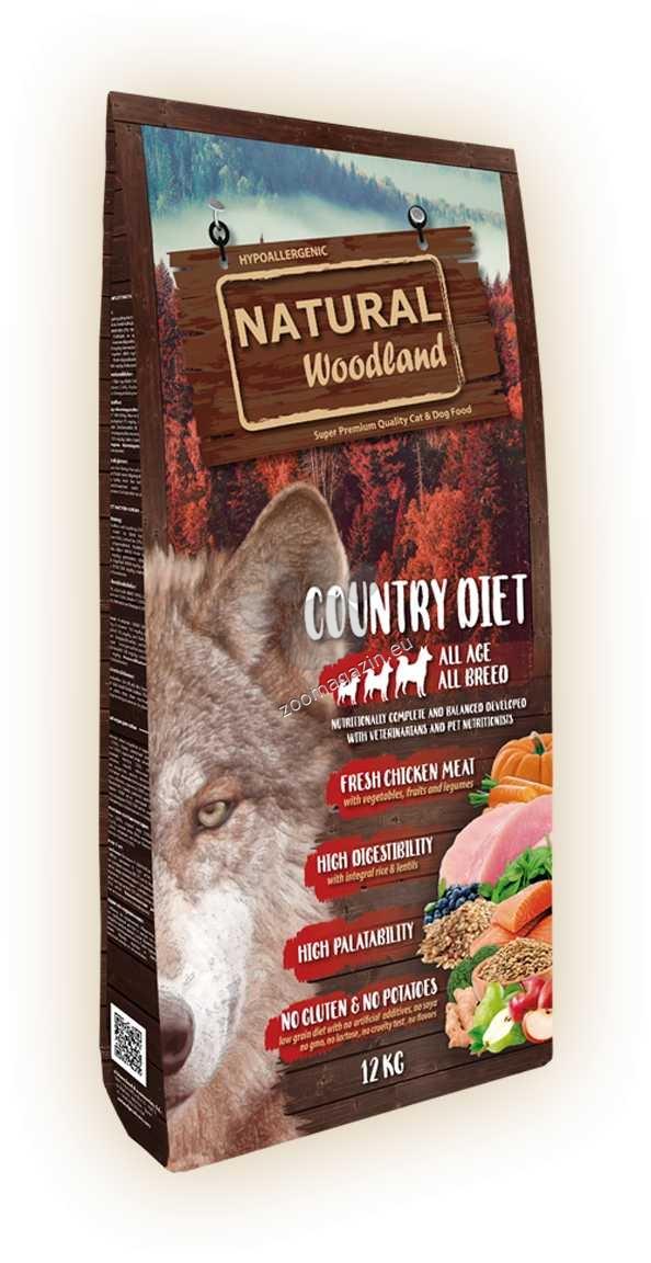 Natural Woodland Country Diet - с прясно месо от пуйка и пиле 12 кг.