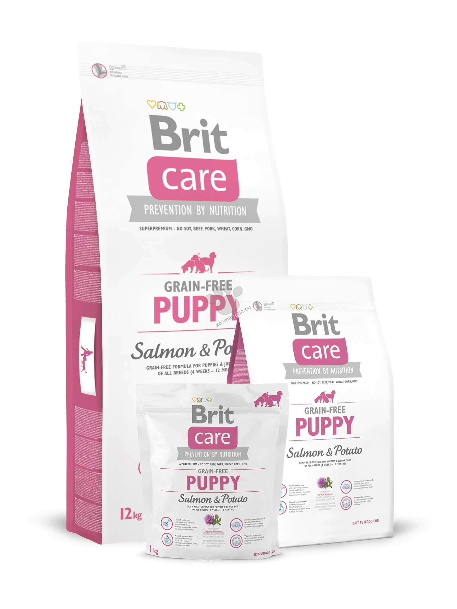 Brit Care Grain-free Puppy Salmon & Potato - със сьомга, за кучета от 1 до 12 месеца 1 кг.