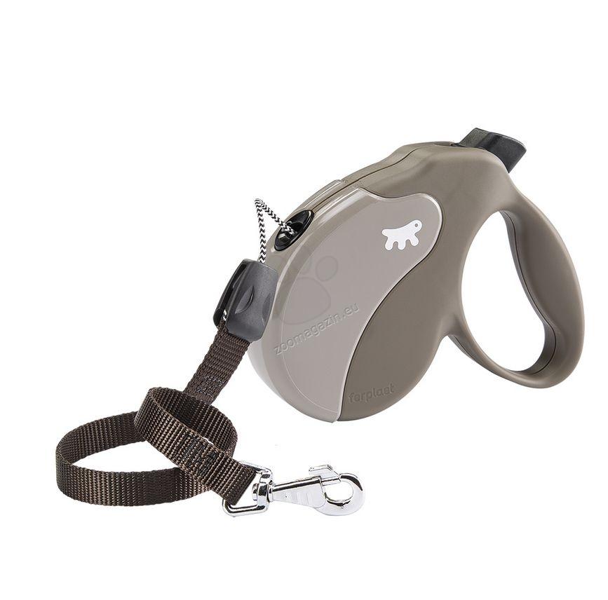 Ferplast - Amigo Cord L Dove Grey - 5 метра въже, за кучета с тегло до 50 кг.