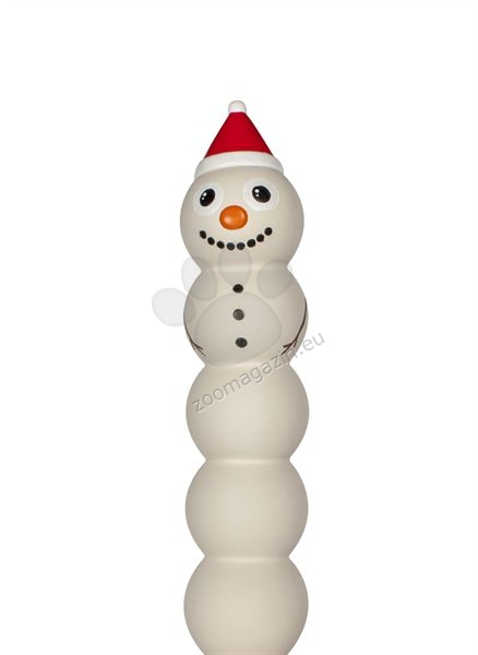 Pet Brands Christmas Latex Squeaking Snowman - коледна играчка 30 см.