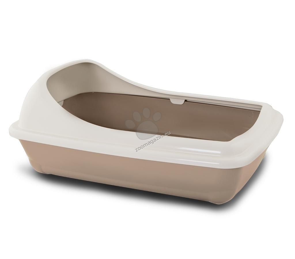 M.P.Bergamo Birba Large - котешка тоалетна с борд / бежова, розова, синя, зелена / 56 / 39 / 11 см