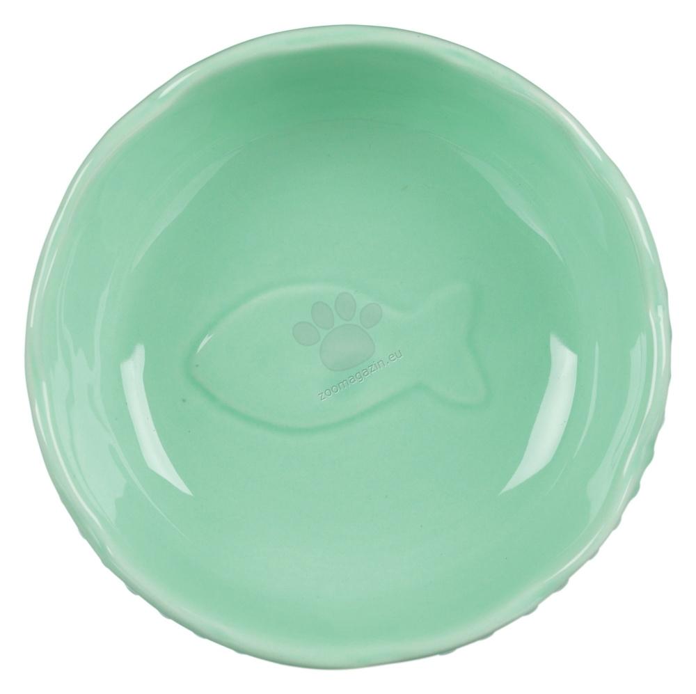 Trixie Ceramic Bowl - керамична купичка 250 мл. / лилава, зелена, бяла /