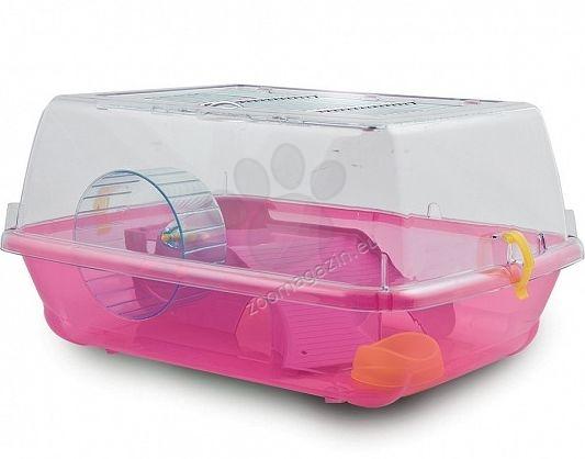 M.P.Bergamo Alvin Mini - клетка с пълно оборудване за хамстери и мини хамстери /розова, зелена, синя, размери: 39/32/20 см