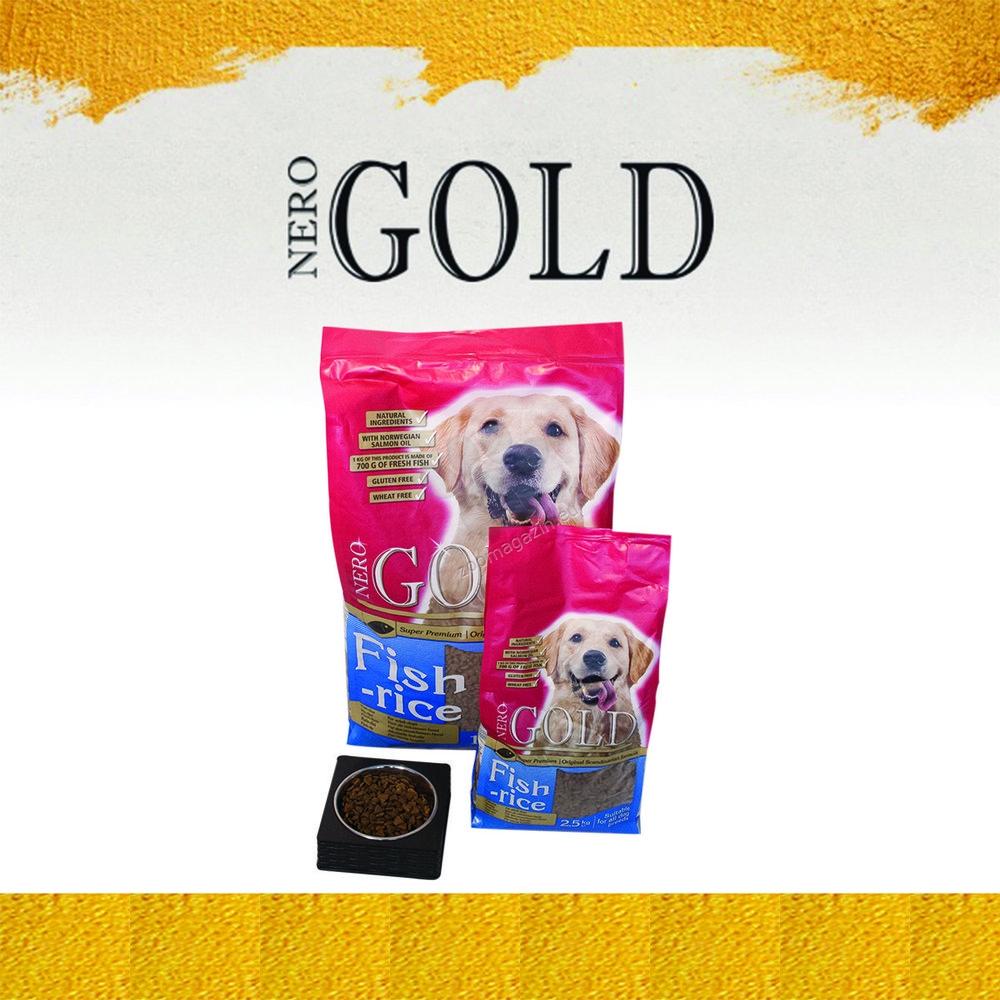 Nero Gold Fish and Rice - пълноценна храна с риба и ориз, за кучета над 12 месечна възраст, подходяща за всички породи 12 кг.
