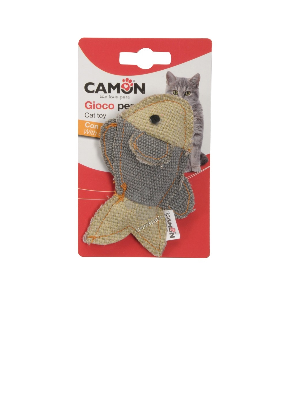 Camon Cat toy with catnip - denim fishes - котешка играчка