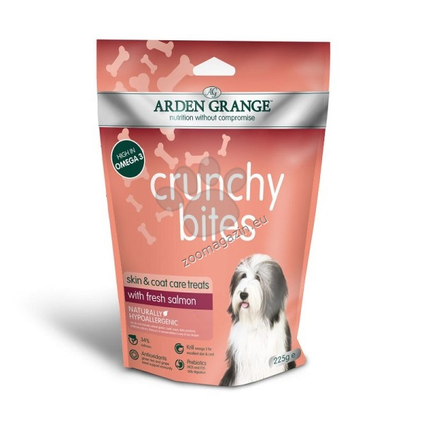Arden Grange - Crunchy Bites Salmon - хрупкави бисквити с прясна сьомга 225 гр.