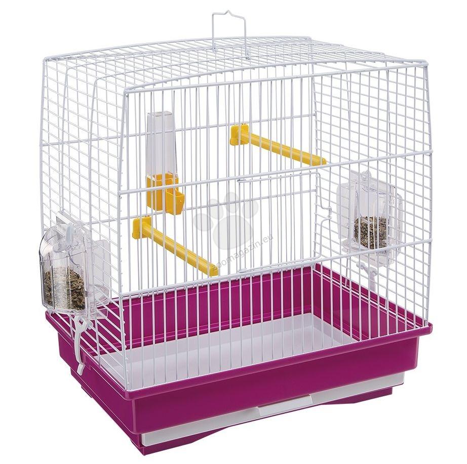 Ferplast - Rekord 1 White - клетка за малки птички с пълно оборудване 35.5 / 24.7 / 37 cm
