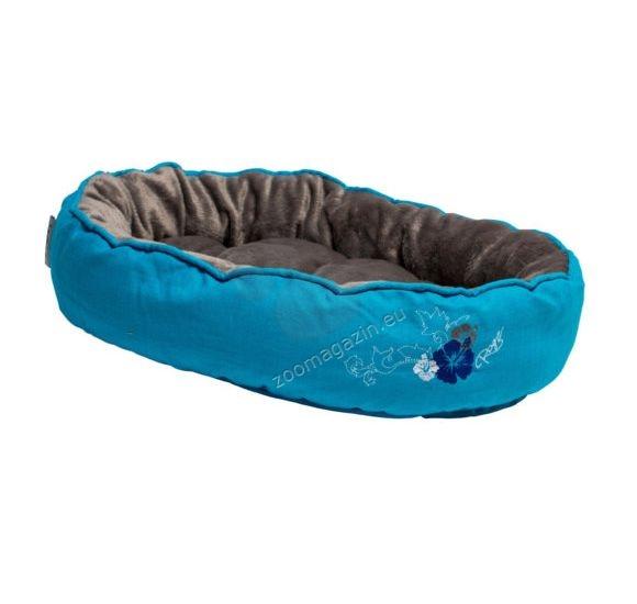 Rogz Snug Podz Blue Floral - комфортно дизайнерско меко легло 56 / 39 / 13 см.
