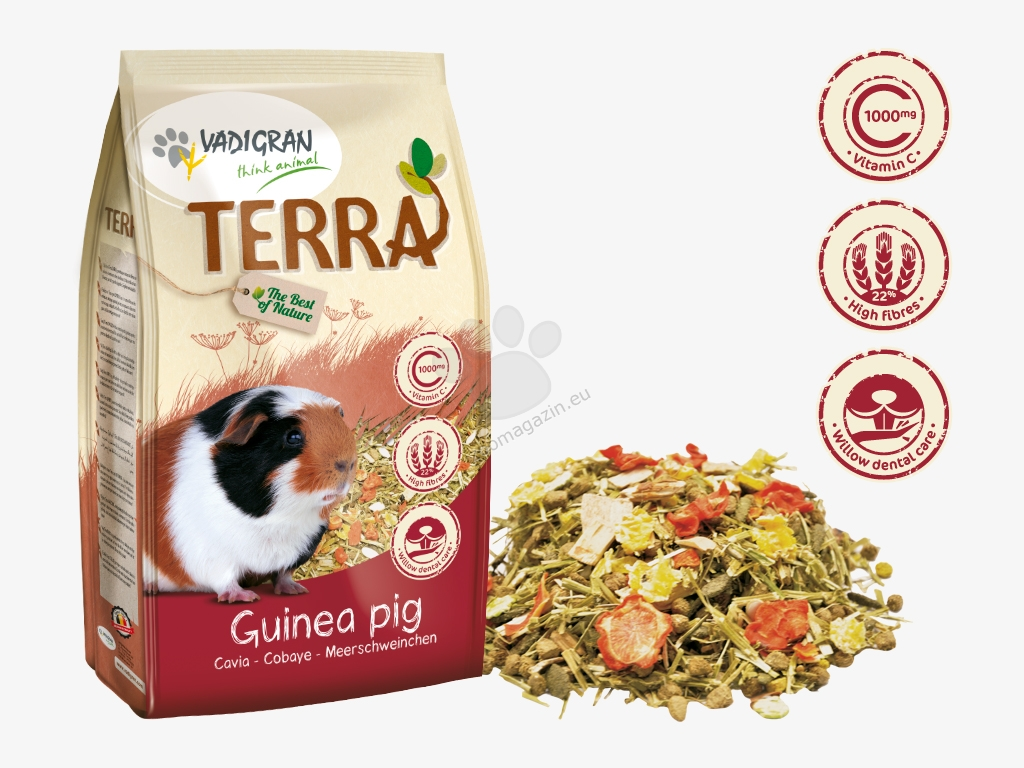 Vadigran - Terra Guinea Pig Super Premium - пълноценна храна за морски свинчета 2.25 кг.