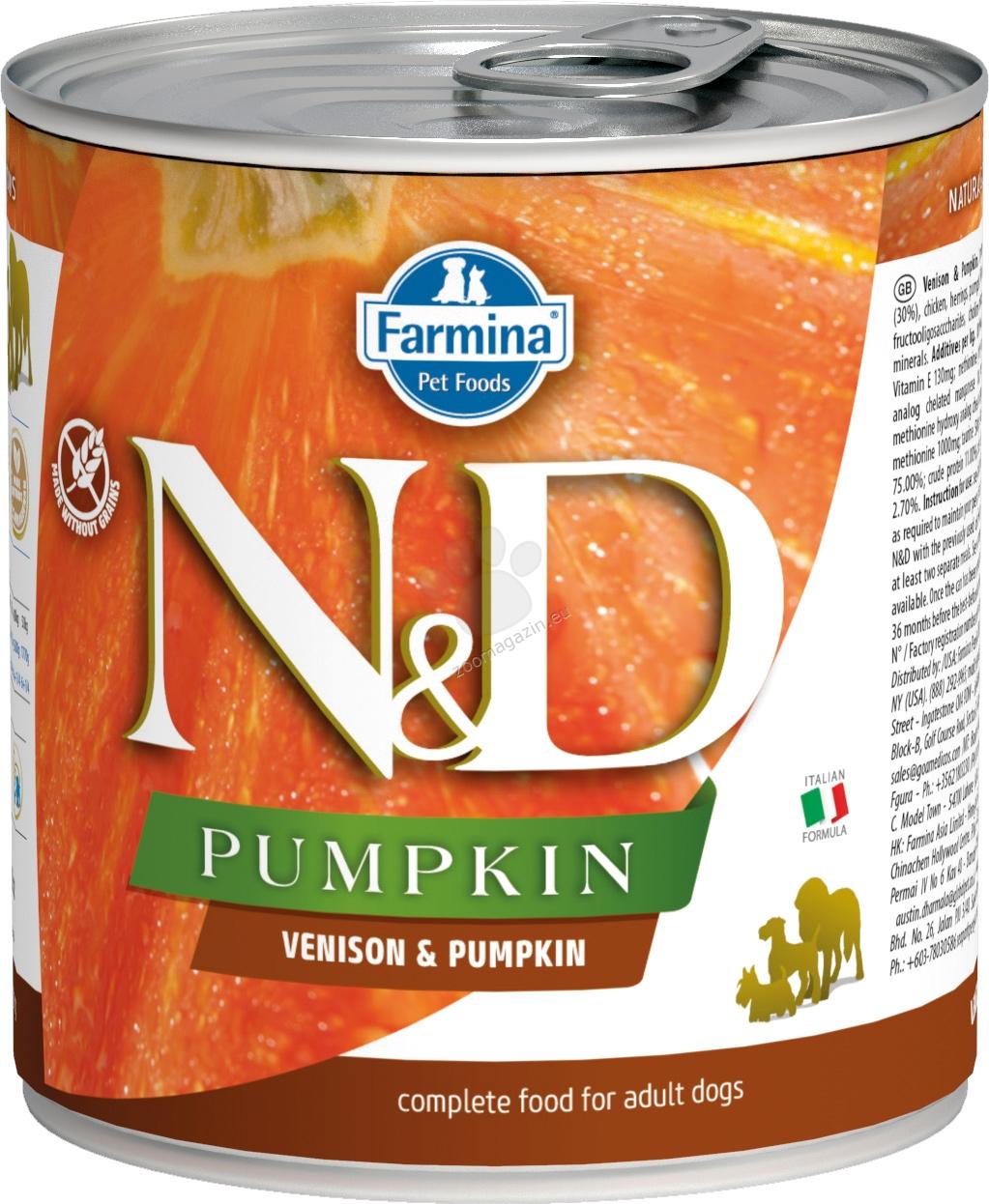 N&D Dog Vension & Pupkin - с еленово месо и тиква 285 гр.