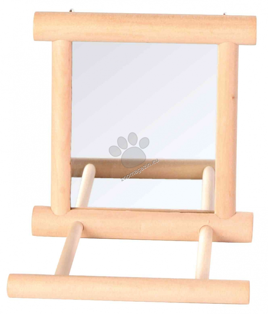 Trixie - Mirror with Wooden Frame - огледало с дървена рамка 9 / 9 см.