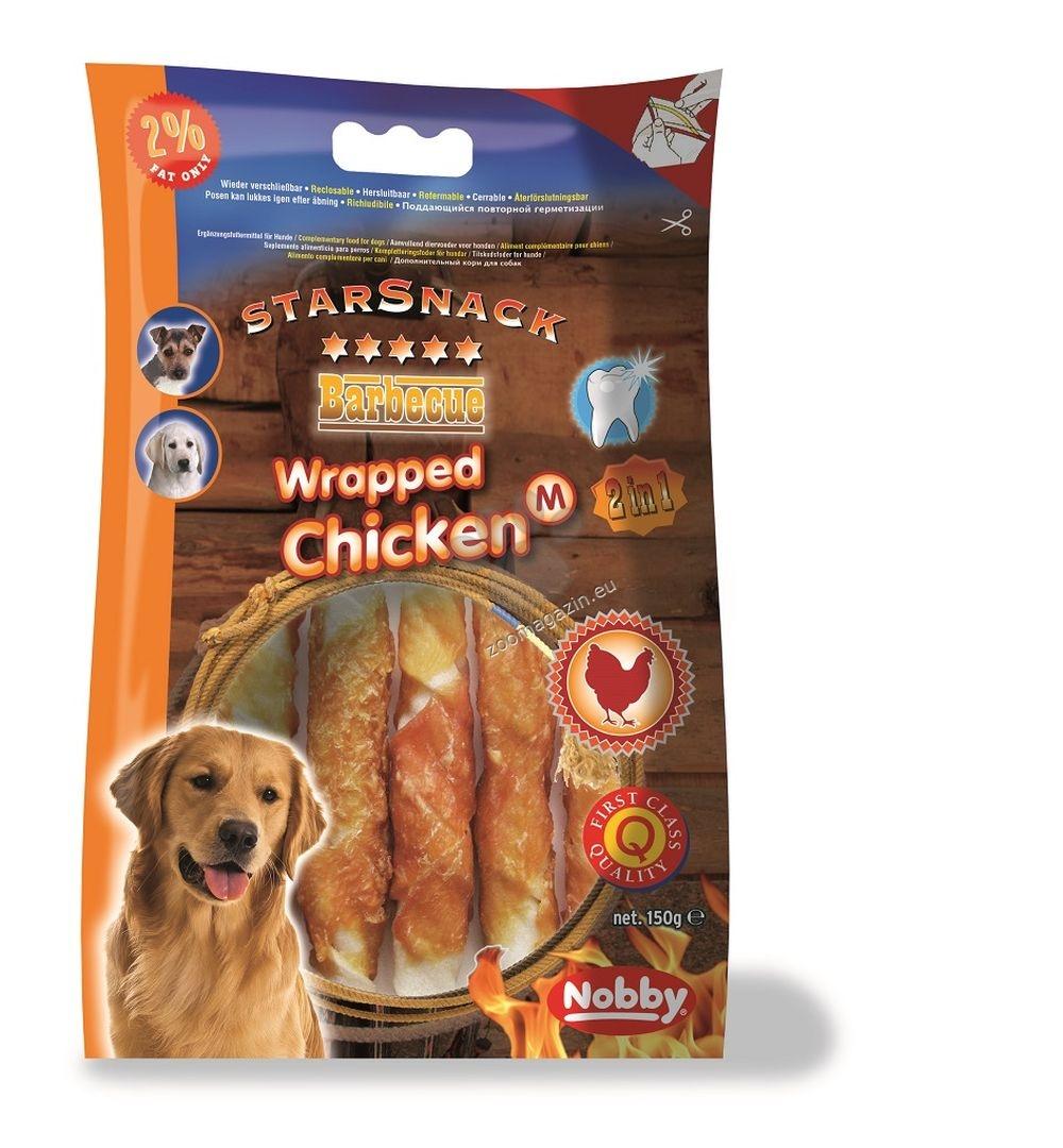 Nobby STARSNACK Wrapped Chicken - деликатесно лакомство 150 гр. / 13 см.