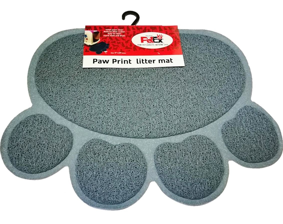 Petex print litter mat gray color - котешко килимче, сиво 57 / 42 см.