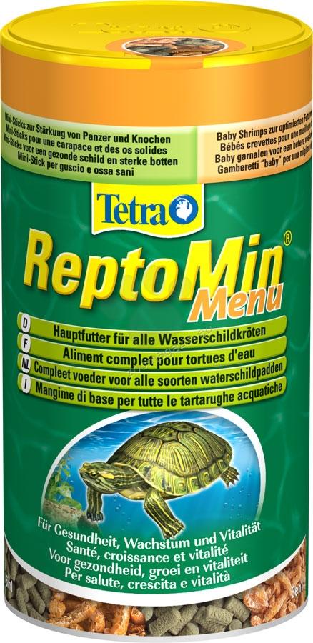 Tetra - ReptoMin Menu - специализирана храна за земноводни костенурки 250 мл.