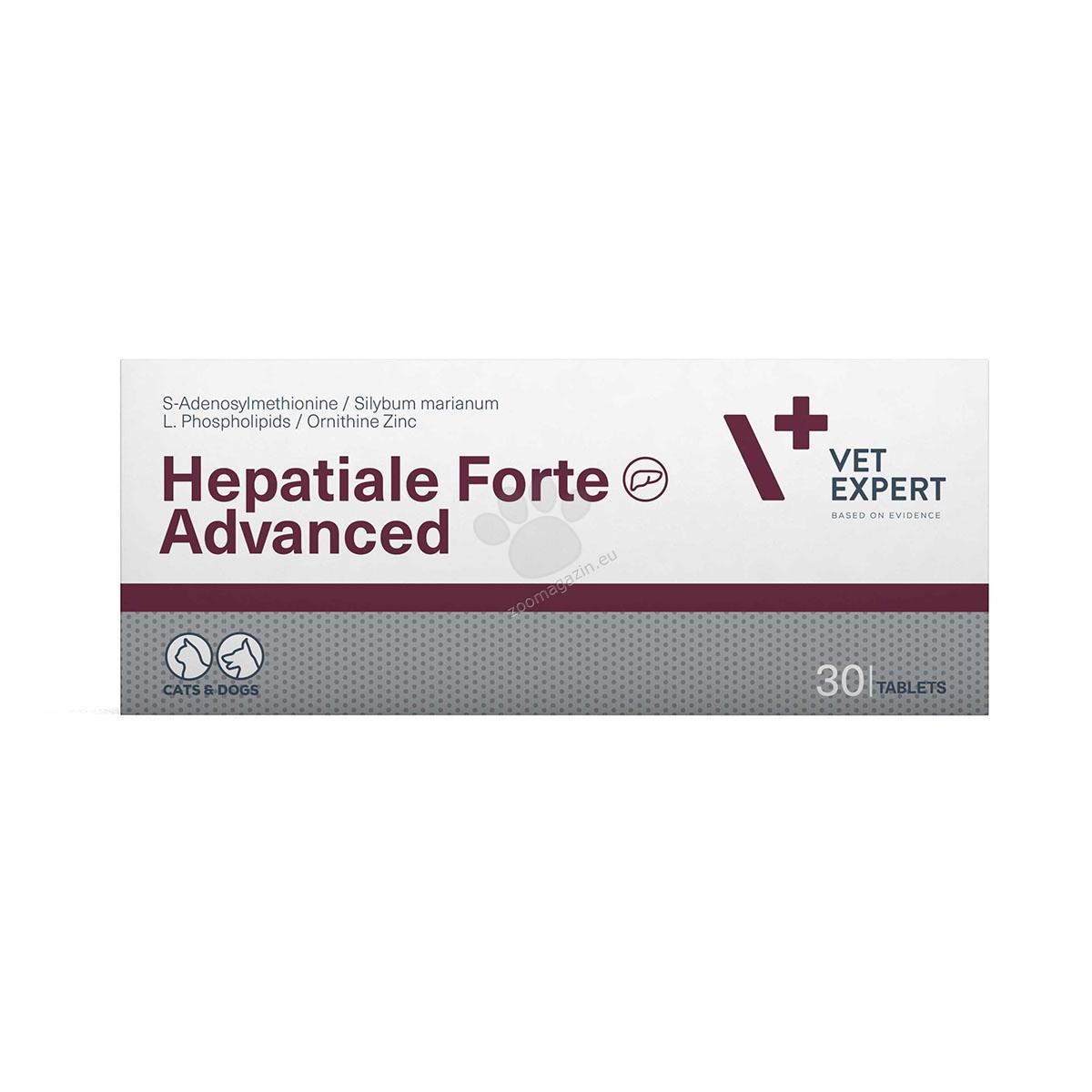 Vetexpert - Hepatiale Forte Advanced - подпомага чернодробната функция при чернодробна недостатъчност и отравяния 30 таблетки